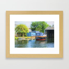 Boat on the Broads Framed Art Print