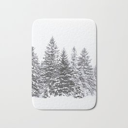 BLACK WINTER TREES Bath Mat