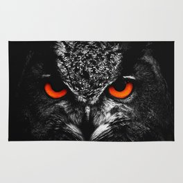 Fire eyes owl Rug