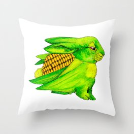 Corn Bun Throw Pillow
