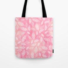 Modern boho hand drawn feathers mandala pink coral watercolor pattern Tote Bag