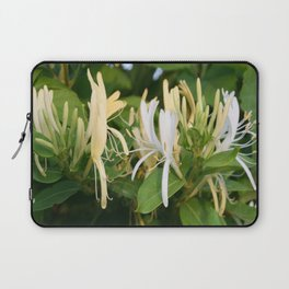 Closeup shot of Lonicera European Honeysuckle Flower Laptop Sleeve