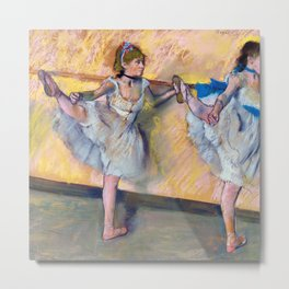 "Edgar Degas ""Danseuses à la barre (Dancers at the bar)"" Metal Print"