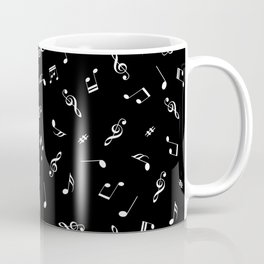 Music Tones Black Coffee Mug