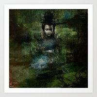 chinese Art Prints featuring Chinese shade by Joe Ganech