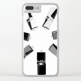 Gives you Wings Black And White Clear iPhone Case