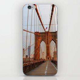 Brooklyn Bridge Sunrise iPhone Skin