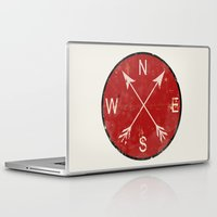 compass Laptop & iPad Skins featuring Compass by Duke Dastardly