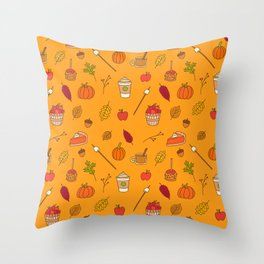 Festively Fall Throw Pillow