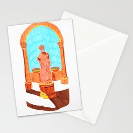 Antique lady Stationery Cards