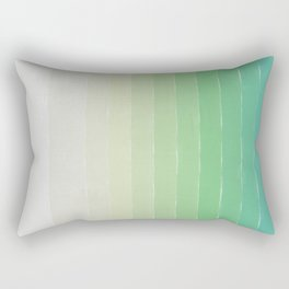 Shades of Ocean Water - Abstract Geometric Line Gradient Pattern between See Green and White Rectangular Pillow