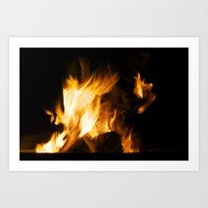 Cat On Fire Art Print