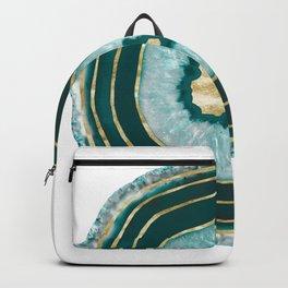 Moon Stone Agate Gold Foil Glam #1 #gem #decor #art #society6 Backpack