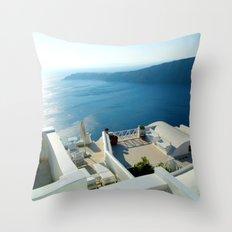 Santorini Lounge Throw Pillow