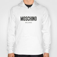 moschino Hoodies featuring Moschino Milano by Joannes