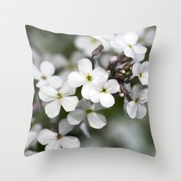 Dames Rocket Wildflowers Throw Pillow