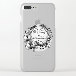 The Future Is Intersectional [B&W] Clear iPhone Case