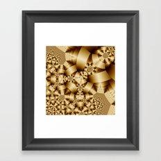 Golden shapes and patetrns in 3-D Framed Art Print
