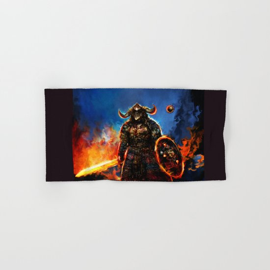viking and his droid Hand & Bath Towel