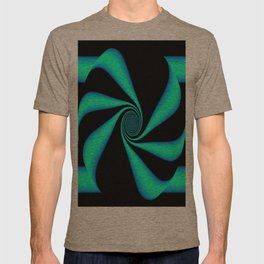 Abstract. Turquoise+Black. T-shirt
