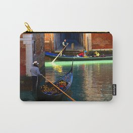 Gondoliers On A Venetian Canal Carry-All Pouch