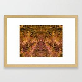 Golden Flowing Shells of Change Framed Art Print