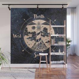 Compass World Star Map Wall Mural