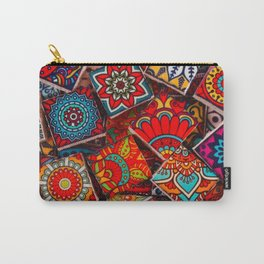 V1 Traditional Moroccan Colored Stones. Carry-All Pouch