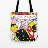 lichtenstein Tote Bags featuring Leeeeee-ROY Lichtenstein!!! by Oubliette