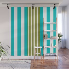 Simply Blue Stripe Wall Mural