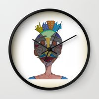 moustache Wall Clocks featuring Moustache by BNK Design