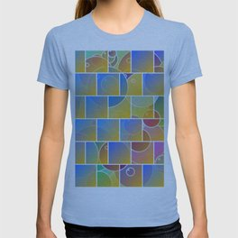 Colorful tiled puzzle T-shirt