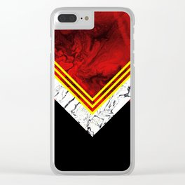 RED GEOMETRY Clear iPhone Case