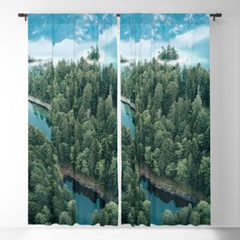 Mountain in a Lake - Landscape Photography Blackout Curtain