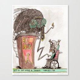 Monsters - 04 The Sucker-Sucker Canvas Print