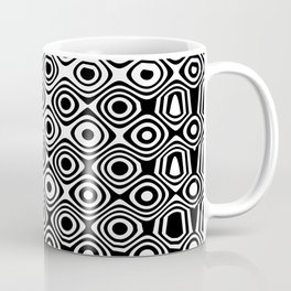 Asymmetry collection: abstract black and white circles Coffee Mug