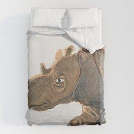 Thinking Rhinoceros Duvet Cover