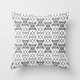 RIGHT AND WRONG I: EASY BLACK Throw Pillow