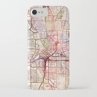atlanta iPhone & iPod Cases featuring Atlanta by MapMapMaps.Watercolors