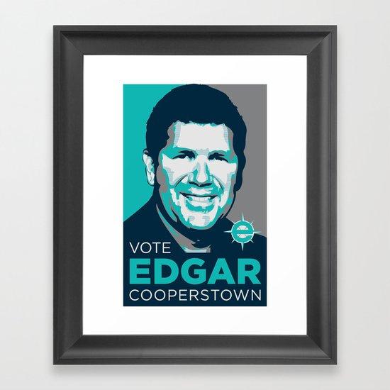 Vote Edgar for Cooperstown Framed Art Print