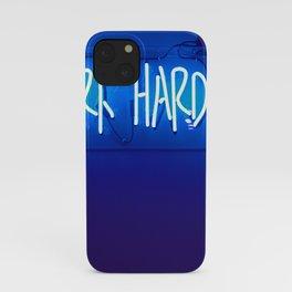 Work Harder iPhone Case