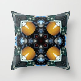 Abstract Auto Artwork One Throw Pillow