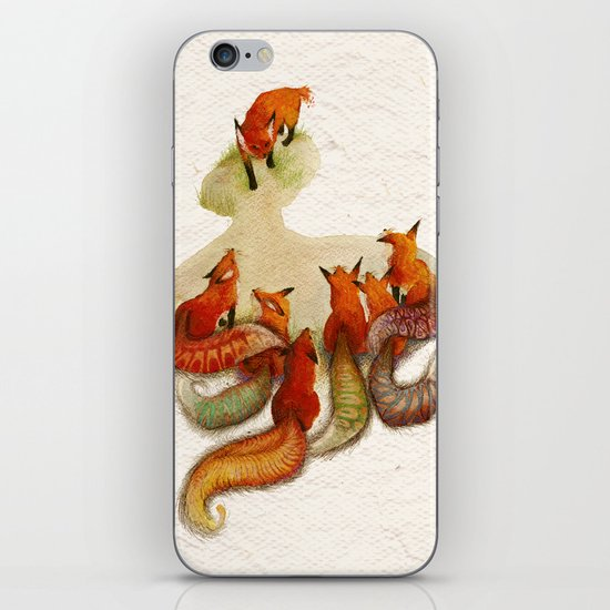 aesop's fable - the fox and his tail iPhone & iPod Skin