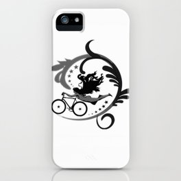 Star Girl Bike Swirl iPhone Case