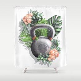 Kettlebell Queen Shower Curtain
