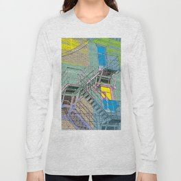 facade with fire escape Long Sleeve T-shirt