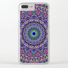 Happy Bohemian Jungle Mandala Clear iPhone Case