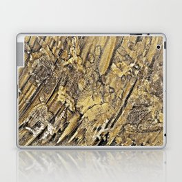 Baby Handprints in Gold and Black Laptop & iPad Skin