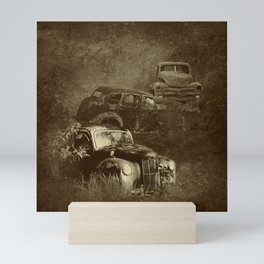Cars in the jungle Mini Art Print
