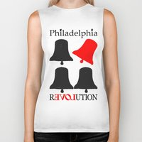 philadelphia Biker Tanks featuring rEVOLution Philadelphia by Humboldtarian